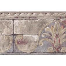 Beige Stone Bricks Molding Wallpaper Border
