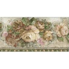 Bloomed White Roses Wallpaper Border