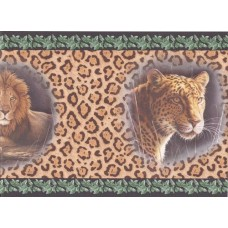Black Cheetah Animal Wallpaper Border