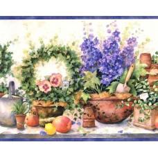 Blue Gardening SI37231B Wallpaper Border