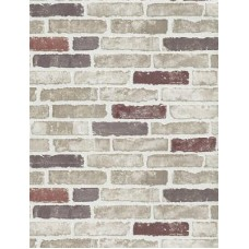 Red Creme Brick Wallpaper