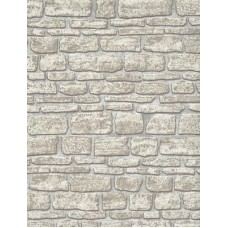 Beige Cream Brick Wallpaper