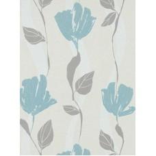 Grey Floral Wallpaper